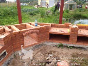 Строительство кирпичного кухонного комплекса