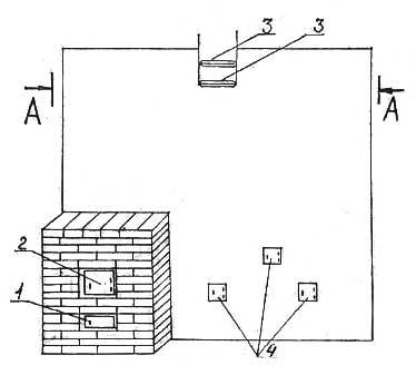 Печь отопительная пятиоборотная №14, вид спереди - Леноблпечь