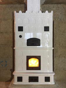 Изразцовая печь Белоснежка