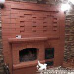 Банная печь с камином