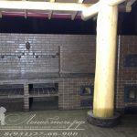 Печной комплекс с большим столом, плитой под казан, хлебной камерой