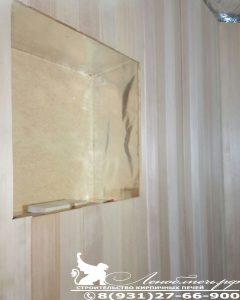 Парогидроизоляция окна бани