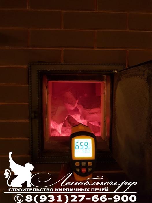 Тестирование температуры в топке банной печи