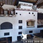 Печной комплекс с мини-русской печью, коптильней, мангалом, плитой