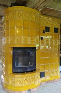 Изразцовая печь Карамелька