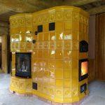 Изразцовая печь с хлебной камерой и камином