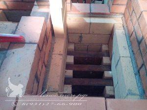 Процесс строительства банной печи с камином