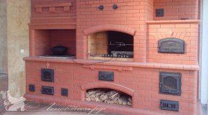 Печной комплекс с варочной панелью, магналом и электровертелом, хлебной камерой