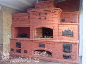 Печной комплекс с варочной панелью, магналом и электровертелом, и хлебной камерой