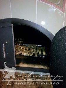 Изразцовая каминопечь с хлебной камерой