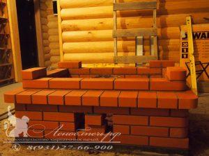Процесс строительства печи для отопления 2 этажей