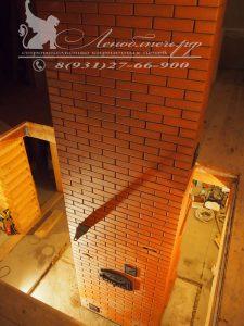 Каминопечь с ХК и щитом отопления второго этажа