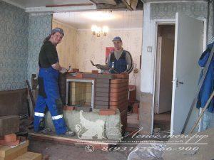 Строительство каминопечи Евгений Романов и Федоров Андрей Леноблпечь