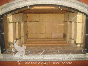 Процесс строительства каминопечи с хлебной камерой