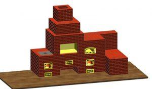 Визуализация кухонного печного комплекса