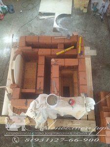 Строительство совмещенной печи и камина